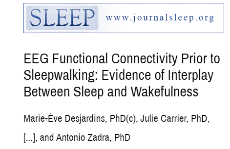 Neurofeedback improves sleepwalking